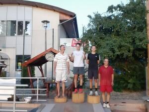 Kara Ákos az Olimpia verseny győztese a jobbaknál és Pirityi András a szebbeknél